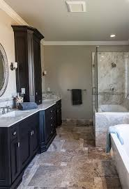 Concrete Floor Bathroom - faux finish concrete floor pool modern with covered patio