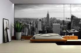 new york city skyline black and white wallpaper mural amazon com