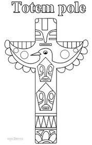 totem pole coloring pages random pinterest totems native