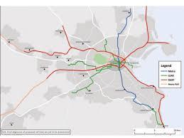 Dallas Dart Train Map by Dublin Map Maps Dublin Ireland
