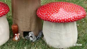 Mushroom Home Decor by How To Make A Mushroom Stool Youtube