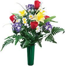Graveside Flower Vases Amazon Com Set Of 2 Cemetery Grave Patriotic Memorial Veterans