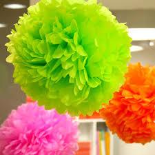 Yellow Pom Pom Flowers - aliexpress com buy 1pcs 4inch tissue paper pom poms flower balls