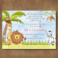 king of the jungle theme baby shower invitations u2022 baby showers