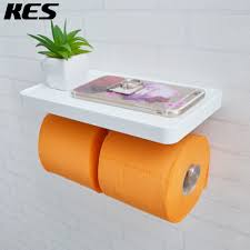 Toilet Paper Roll Storage Aliexpress Com Buy Kes Bathroom Toilet Paper Double Roll Holder