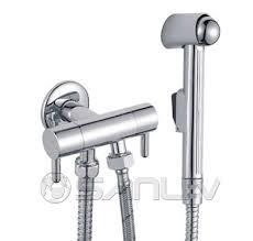 Toilet Bidet Sprayer Two Handle Angle Valve For Shattaf And Toilet Brass Angle Stop