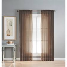 How To Hang A Drapery Scarf by Amazon Com Window Elements Solid Voile Sheer Rod Pocket Curtain