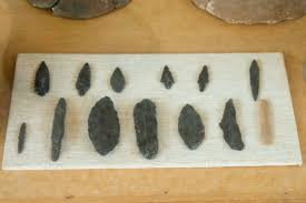 file obsidian tips and blades neolithic saliago am paros