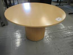 herman miller round conference table v17 pre owned maple herman miller column base round table