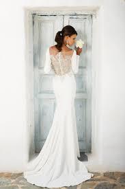 Long Sleeved Wedding Dresses Style 8936 Crepe Long Sleeved Wedding Dress With Beaded Illusion
