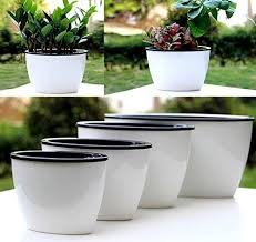 3pcs self watering planter automatic watering plant pots pp