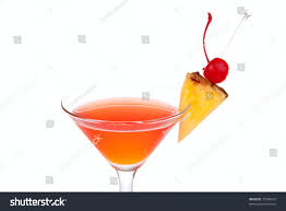 martini pineapple red cosmopolitan cocktail vodka rum triple stock photo 70784929