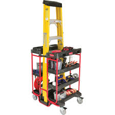 rubbermaid service cart with cabinet rubbermaid ladder tool utility cart trash cans warehouse