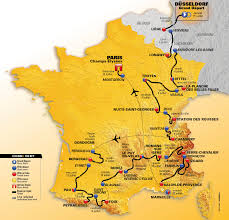 Loire Valley France Map by Tour De France 2017 Crossing Five Mountain Ranges Sports Event