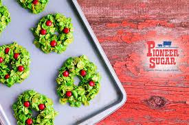 cornflake holiday wreaths pioneer sugar