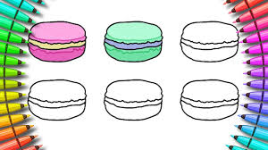 how to color macarons coloring page for kids youtube