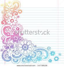 Flower Designs On Paper Springtime Flower Power Butterflies Back Stock Vector