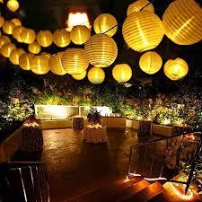 qedertek solar string lights qedertek solar fairy lights chinese lanterns 19 7ft 30 led outdoor