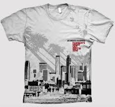 Event T Shirt Design Ideas Fidm Graphic Student Designs T Shirt For La U0027s U201cfashion U0027s Night Out