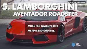 gas mileage for lamborghini aventador these cars the worst gas mileage