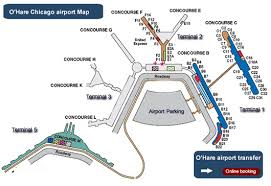 chicago o hare terminal map map of terminals at o hare airport ord