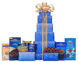 wine country gift baskets ghirardelli milk chocolate tower