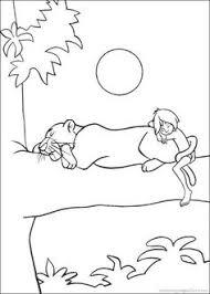 mowgli shere khan jungle book coloring pages kids