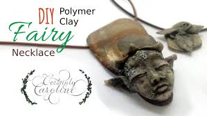 fairy crystal necklace images Diy stone fairy necklace polymer clay jewelry tutorial jpg