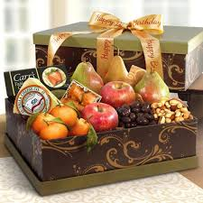 Cheese Gift Sonoma Happy Birthday Deluxe Fruit And Cheese Gift Box Ag2100b