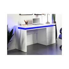 bureau laqué marque generique bureau emerson 3 tiroirs mdf laqué blanc