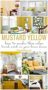 mustard home decor remodelaholic how to make mustard yellow work in your home decor