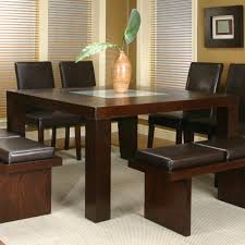 Square Dining Room Set Square Dining Table With Frosted Glass Insert By Cramco Inc