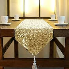 48 inch table runner amazon com 12 by 48 inch rectangle gold sequin tassel table runner