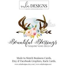 Home Decoration Logo Decor Logo Wedding Logo Blog Header Floral Logo Watercolor Logos