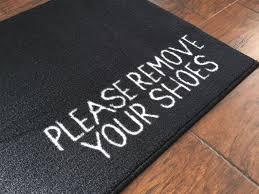 Doormat Leave 2 U0027 X 3 U0027 Remove Your Shoes Welcome Doormat Black Floormatshop