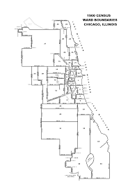Chicago City Limits Map by 1900 Chicago City Ward Map