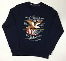 Eagle American Flag Nwt Polo Ralph Lauren Navy Eagle Usa American Flag Sweatshirt
