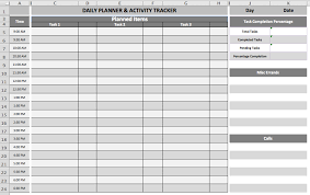 Daily Planner Template Excel Daily Task Planner Template Business Templates