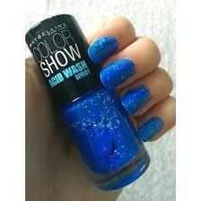 nail polish blue acid wash maybelline cute fashion colorful