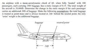 aerodynamic chord solved an airplane with a mean aerodynamic chord of 6ft