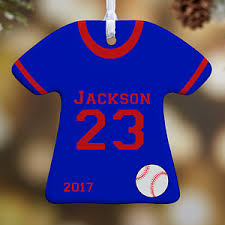 personalized ornaments sports jersey 1 sided