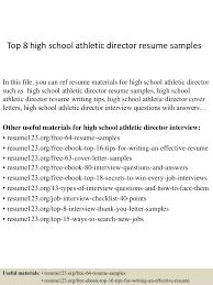 Athletic Resume Template Top8highschoolathleticdirectorresumesamples 150410043223 Conversion Gate01 Thumbnail 4 Jpg Cb U003d1428640356