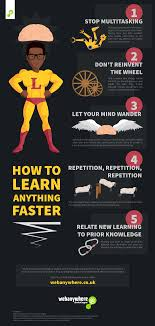 how to how to learn anything faster infographic e learning infographics
