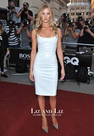 What To Wear At A Cocktail Party Men - rosie huntington whiteley white cocktail party dress gq men of the