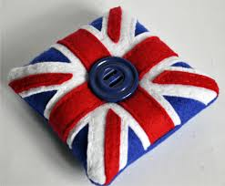 Blue Union Jack Cushion Bagladee Union Jack Pin Cushion