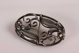 dansk smykkedesign www antikvitet net dansk smykkedesign broche af sterlingsølv
