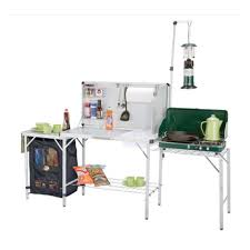 Oztrail Camp Kitchen Deluxe With Sink - camping kitchen aluminium super light camping kitchen with sink
