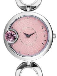 pink bracelet watches images Titan ladies pink dial quartz watch with bracelet 2503sm01 jpg