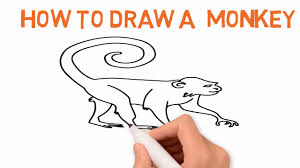 how to draw a monkey easy drawing latest video tutorial sketch