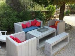 Pallet Patio Furniture by Pallet Garden Furniture Diy Giant Outdoor Set Made Out Of